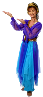 Real estate agent, Miogene Alexander, in a genie costume in Denton, TX